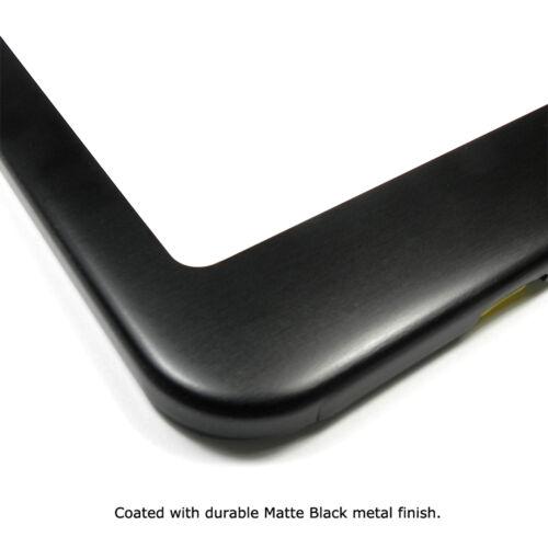 Chrysler Red Logo Metal License Plate Frame Matte Black Finish