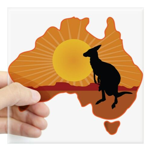 845842652 CafePress Australia Kangaroo Square Sticker 3 X 3 Square Sticker