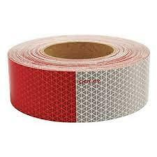 """Reflective DOT Conspicuity Tape Safety  Red /& White - 2/"""" Wide 150 FT"""