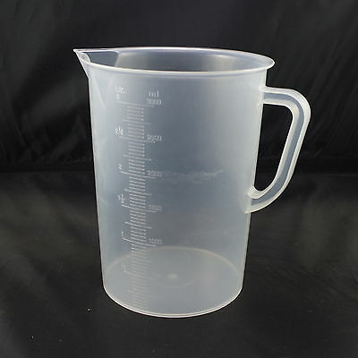 3000ml plastic measuring cup graduated with handle new x1