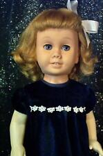 Soft Face 1959-64 First Years Chatty Cathy She Talks Blue Velvet Dress Gorgeous!