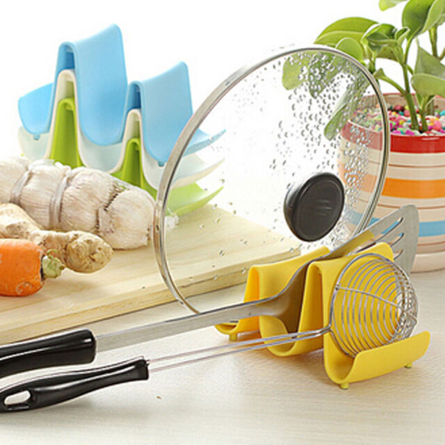 Hot Wave Style Pan Pot Cover Spoon Lid Rack Rest Stand Holder Kitchen Utensil