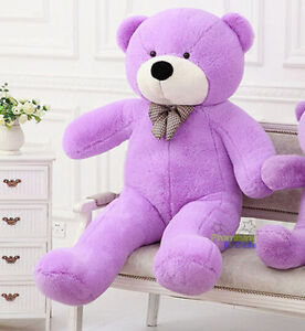 "GIANT 47'' BIG CUTE ""purple"" PLUSH TEDDY BEAR SOFT TOYS doll gift 120CM"