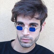 retro Victorian sunglasses spectacles blue lens Sherlock Holmes Goth Steampunk