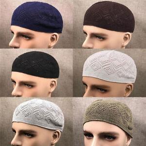 Eg-Respirant-Homme-Crane-Casquette-Musulmane-Islamique-Priere-Chapeau-Topi