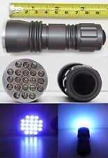 Linterna de luz ultravioleta (UV) - 21 Leds - Color titanio-Detector billetes