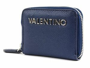 VALENTINO-by-Mario-Valentino-Divina-Zip-Around-Wallet-XS-Geldboerse-Blu-Blau-Neu