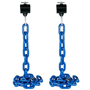 Weight-Lifting-Chain-Pairs-12kg-Olympic-Bar-Barbell-Chain-w-Collars-Strength-Gym
