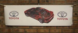 Toyota-mr2-sw20-mk2-red-PVC-Trabajo-Grande-Tienda-Garaje-Auto-Show-Banner-Banner