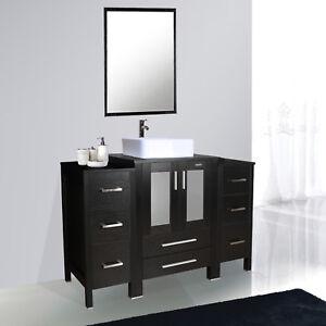 La Foto Se Esta Cargando 48 Inch Bathroom Vanity W Side Table Ceramic