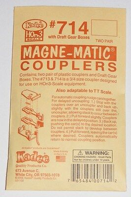 Kadee #714 HOn3 Scale Magne-Matic Knuckle Couplers NEW