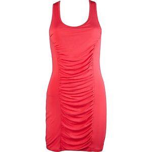 d2a0c1e450d7 Fox femmes pour filles Mambo Robe rose rouge sans manche soirée sexy ...