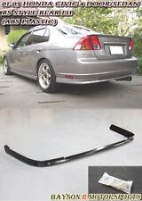 RS Style Rear Lip (PP) Fits 01-03 Honda Civic 4dr Sedan