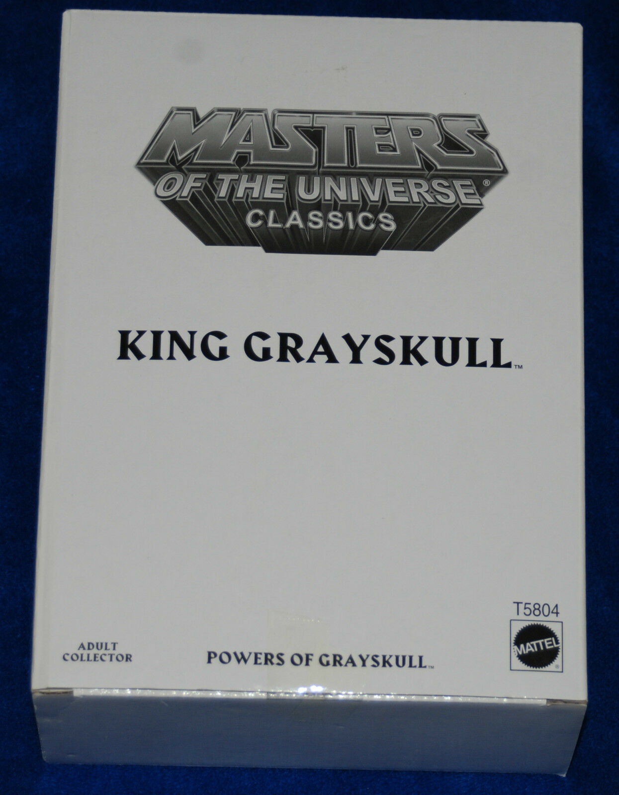 MASTERS OF THE UNIVERSE MOTU CLASSICS KING grauSKULL WITH Weiß BOX NEW