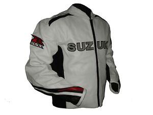 Suzuki-GSXR-Motorcycle-Jackets-Biker-Racer-Leather-Motorbike-Protection-Jacket