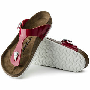 new product 8b46b 590af Details zu Birkenstock Gizeh Zehentrenner 36 37 normal Tango red Lack rot  1005297 NEU