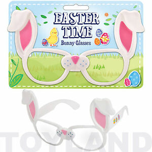 CHILDS NOVELTY BUNNY GLASSES RABBIT TOY FANCY DRESS EASTER PARTY BAG FILLER