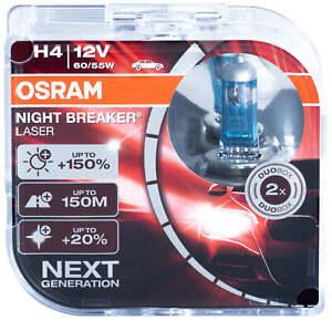 L/'AVANT Osramh4 Night Breaker Duobox 60//55w 2 pcs. 64193nb-hcb Pour VW