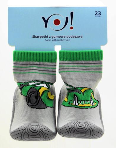 Bébé chaussettes avec semelle en caoutchouc Carrelage Speeder Cabanes Chaussures Chaussons krabbelschuh