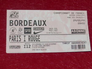 COLLECTION-SPORT-FOOTBALL-TICKET-PSG-BORDEAUX-29-MAI-1999-Champ-France
