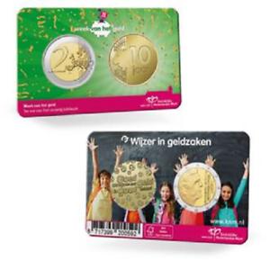 """2euro Pays-Bas 2021 coincard + médaille """"10 Years Moneyweek """" (neuve)"""