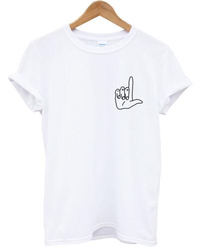 Loser Hand Sign Logo T-Shirt Girls Boys Cute Teenager Hipster Top Fashion L342