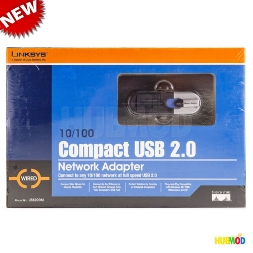 Wired USB200M Cisco Linksys 10//100 Compact USB 2.0 Network Adapter USB 2.0