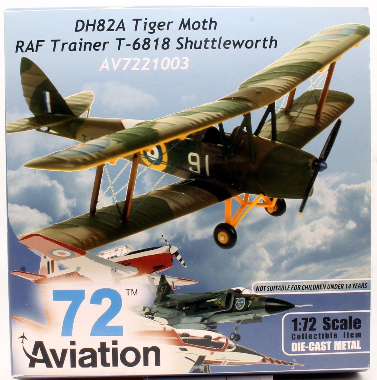 AVIATION 72 1 72 AV-72-21-003 ROYAL AIR FORCE DH82A TIGER MOTH T-6818 (U21)