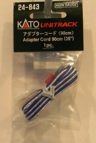 "NIB HO//N Kato #24-843 Unitrack 35/"" Adapter Cord"