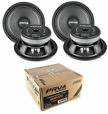 "4x 6/"" Full Range Mid Bass Loud Speaker 8 Ohm 6MB200V2 800 Watts PRV Audio"