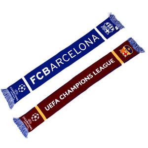 FC Barcelona Schal UEFA Champions League, Barca Jacquard Wendeschal, blau/rot