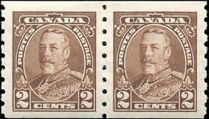 Mint-H-Canada-PAIR-1935-F-VF-2c-Scott-229-Pictorial-Coil-Stamps