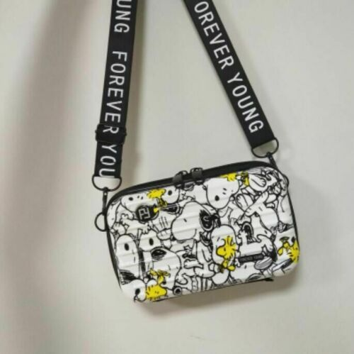 Cute Snoopy /& Woodstock Sport Crossbody Bag Travel Mini Luggage Suitcase Clutch