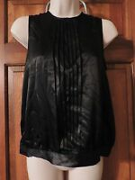 Vertigo Paris Pretty Black Blouse Top Size Xs Retails $140