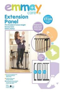 Emmay-Care-Safety-Gate-Extension-Black-27cm-Extension-Panel