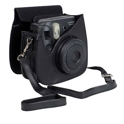 Black Case PU Leather for Fujifilm Fuji Instax Mini 8 8s Camera