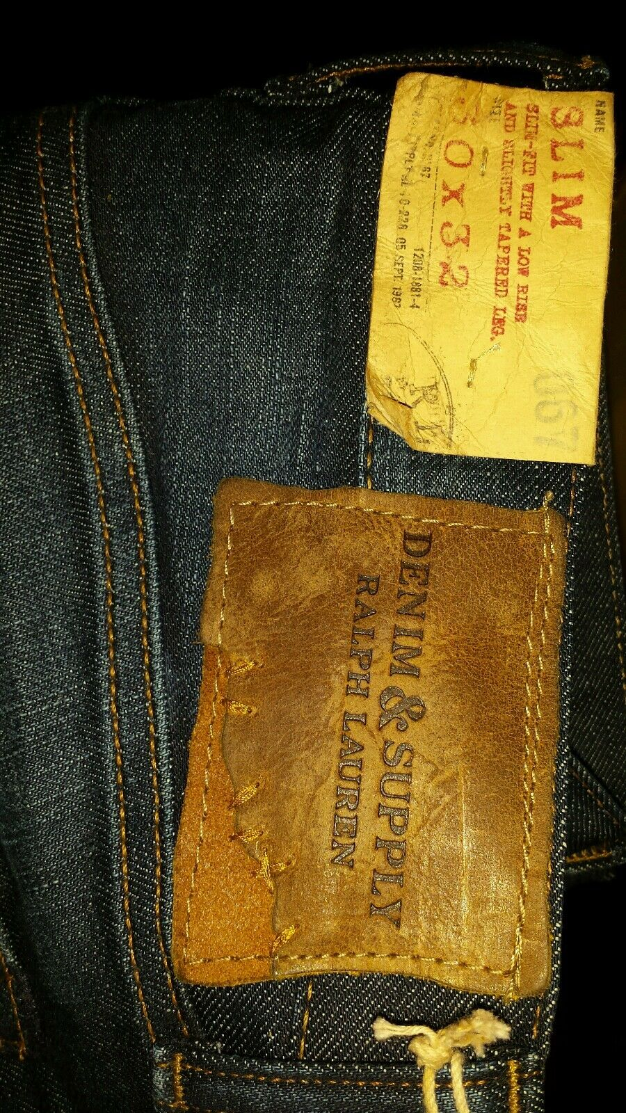RALPH LAUREN DENIM TAPERED blueE JEANS MENS SLIM 30x32 Orig.