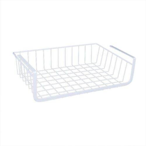 Storage Basket Refrigerator Rack Under Cabinet Wire Fruit Food Shelf Organizer