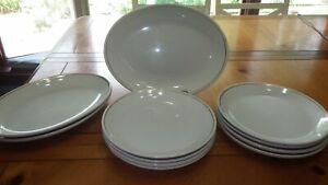 Homer Laughlin Restaurant Ware Plates Oval Plates Round Plates Heavy Beige