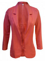 NEXT NEW WOMENS CORAL PINK CASUAL BLAZER JACKET SMART TOP sizes 6-22 RRP £34