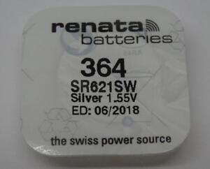 BRANDNEU-1-x-364-Renata-Uhr-Batterie-Silber-1-55v-sr621sw-01-2020-EXP