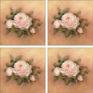 Rose-Accent-amp-Decor-Tile-Set-Cook-Ceramic-Backsplash-Floral-Flower-Art-CC003