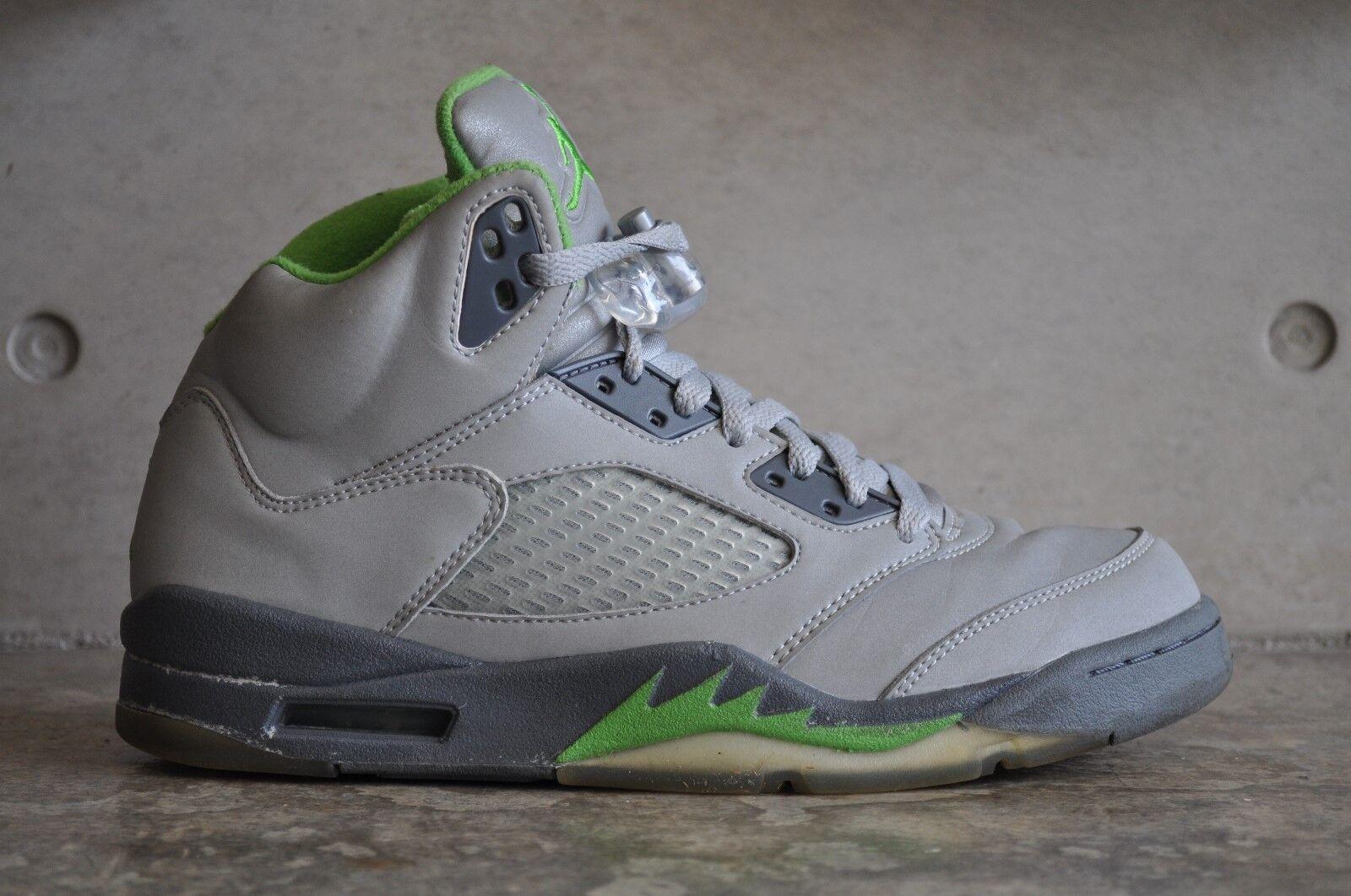 Nike Air Jordan 5 Retro  Green Bean  2006 - Silver Green Bean-Flint Grey 6.5 UK