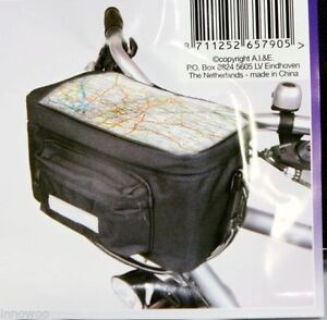 Details About Quality Bicycle Map Holder Handlebar Bag Cycle Front Including