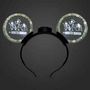 Disney-World-Haunted-Mansion-50th-Anniversary-Light-Up-Mickey-Mouse-Ears-NWT