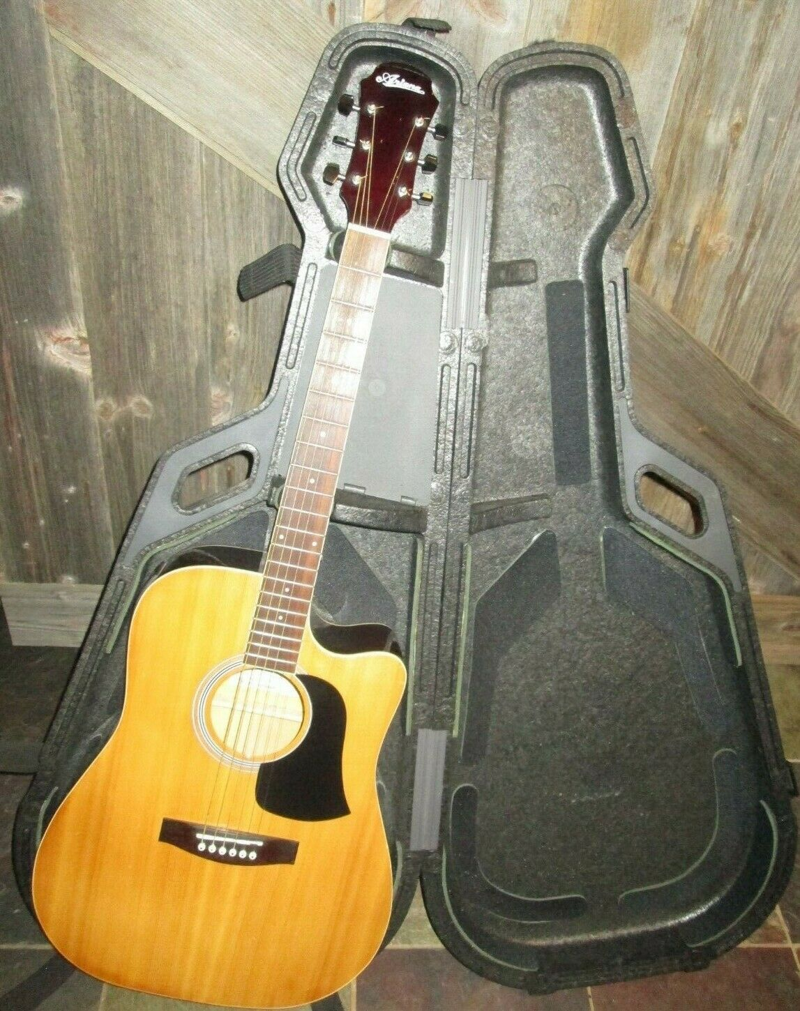 ARIA ARIAN  AW-15CE N acoustic electric guitar W  FORK CASE