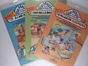 Astérix 3 volumes d'autocollants Ed. Dragon d'or 1991 Neuf sous blister