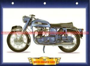 NORTON 650 SS Dominator 650SS 1962-1968 Fiche Moto #005809