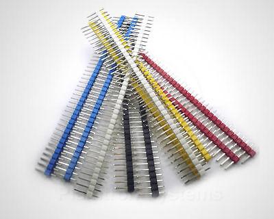 10 Stck. farbige Stiftleisten (Header Pins), quadratische Pins, 1x40pol RM 2,54