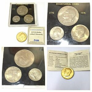 Usa One Half Quarter Dollar Liberty 1776 1976 John Kennedy Münze